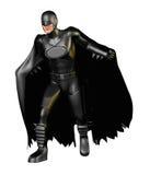 黑暗的超级英雄姿势 向量例证