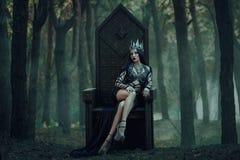 黑暗的邪恶的女王/王后 免版税图库摄影