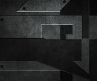 黑暗的金属纹理 库存例证