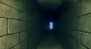 黑暗的隧道地下例证 库存图片
