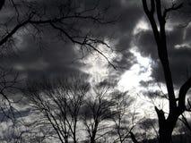 黑暗的预兆天空 图库摄影