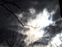 黑暗的预兆天空2 免版税库存照片
