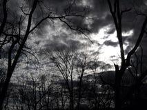 黑暗的预兆天空3 库存图片