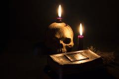 黑暗的魔术 库存照片