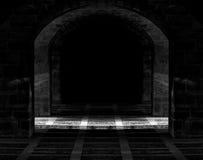黑暗的洞 库存照片