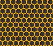 黑暗的bee& x27; s蜂窝例证 库存照片