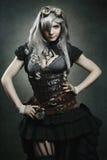 黑暗的steampunk吸血鬼 免版税库存图片