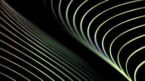 暗背景下彩色霓虹灯在不同平面内旋转的运动 动画 抽象螺旋旋转 皇族释放例证