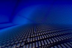 背景靛蓝技术 库存例证