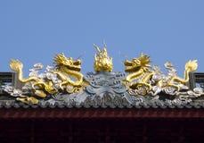 暗藏的上海:上海玉佛寺,一个非常精神地方 免版税库存图片