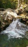 暗藏的岩石瀑布 库存图片