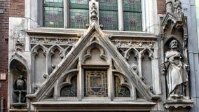 暗藏的教会的Neo-Gothic门面,De Papegaii,阿姆斯特丹,荷兰 免版税库存照片