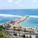 暗藏的海滩巴厘岛 库存照片
