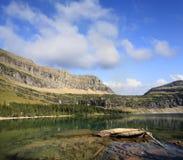 暗藏的湖冰川国家公园 免版税图库摄影
