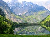 暗藏的湖 库存照片