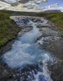 暗藏的瀑布在冰岛 图库摄影