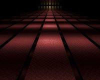 黑暗被反映的走廊 向量例证