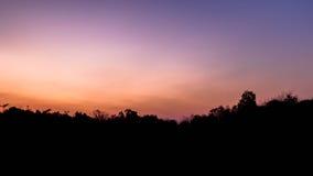 暮色天空早晨 库存照片