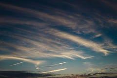 暮色天空 库存图片
