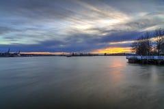 暮色时间的弗拉塞尔河 库存图片