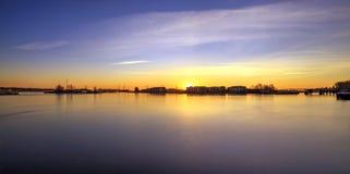 暮色时间的弗拉塞尔河 库存照片