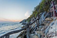 暮色时间的秀丽海岛 图库摄影