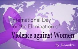 暴力的排除的国际天对妇女的 库存图片