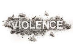 暴力词作为心理,物理或者情感侵略 免版税库存照片