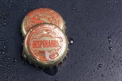 暴徒啤酒瓶盖  免版税库存图片