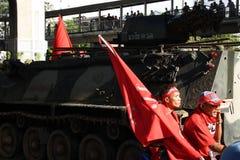 暴民红色衬衣 免版税库存图片