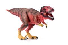 暴龙rex恐龙塑料玩具 库存照片