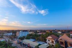 暹粒市,柬埔寨回教区  库存图片
