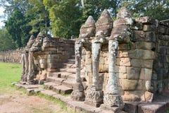 暹粒,柬埔寨-公寸10 2016年:大象的大阳台在A的 免版税图库摄影