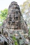 暹粒,柬埔寨-公寸10 2016年:胜利门在吴哥城 免版税库存照片
