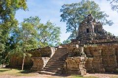 暹粒,柬埔寨-公寸10 2016年:Preah Pithu在吴哥城 A 免版税库存照片