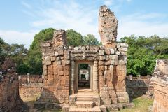 暹粒,柬埔寨- 2016年12月11日:东部Mebon在吴哥 一famou 库存图片