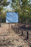 暹粒,柬埔寨- 2015年2月02日:信息标志CMAC柬埔寨人排雷行动中心-关于terri的矿山清理 免版税库存图片