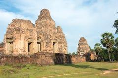 暹粒,柬埔寨- 2016年12月11日:前Rup在吴哥 著名h 免版税库存照片