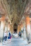 暹粒,柬埔寨- 2016年12月05日:吴哥窟 一著名历史 库存图片