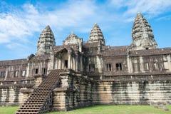 暹粒,柬埔寨- 2016年12月05日:吴哥窟 一著名历史 库存照片