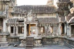 暹粒,柬埔寨- 2016年12月05日:吴哥窟 一著名历史 免版税图库摄影