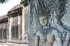 暹粒,柬埔寨- 2016年12月05日:在吴哥窟的安心 一famou 免版税库存照片