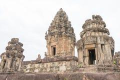 暹粒,柬埔寨- 2016年12月01日:在Roluos寺庙的Bakong F. stratocaster电吉他 免版税库存图片