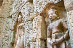暹粒,柬埔寨- 2016年12月11日:在Ta索马里兰的安心在吴哥 A 免版税库存照片