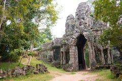 暹粒,柬埔寨- 2016年12月13日:死者的门吴哥Th的 图库摄影