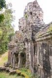 暹粒,柬埔寨- 2016年12月13日:死者的门吴哥Th的 免版税库存图片