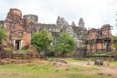 暹粒,柬埔寨- 2016年12月05日:菩萨的脚印酸碱度的 图库摄影