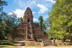 暹粒,柬埔寨- 2016年12月05日:Baksei Chamkrong在吴哥 A 免版税图库摄影