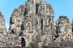 暹粒,柬埔寨- 2016年12月11日:Bayon寺庙在吴哥城 免版税库存图片
