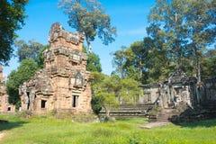 暹粒,柬埔寨- 2016年12月11日:Khleang在吴哥城 一fam 库存照片
